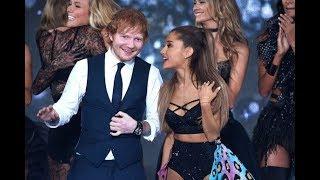 Ariana Grande tells Ed Sheeran a dirty joke