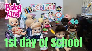 BABY ALIVE First Day Of School baby alive videos