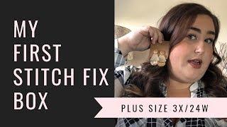My First Stitch Fix Box | Plus Size 3x/24W