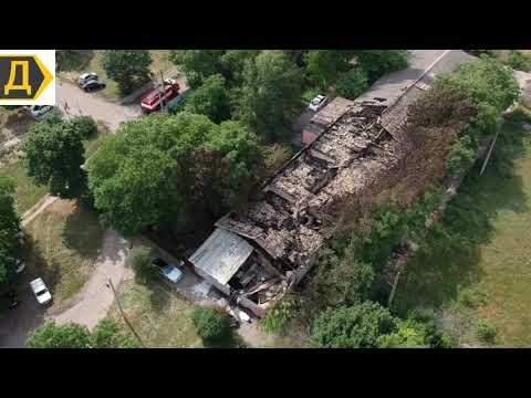 Последствия пожара в психиатрической больнице в Одессе
