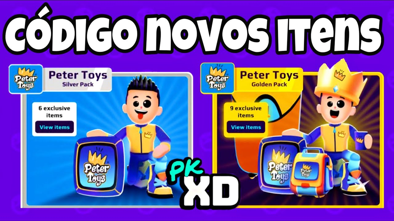 PK XD CÓDIGO DOS ÍTENS EXCLUSIVOS PETER TOYS!