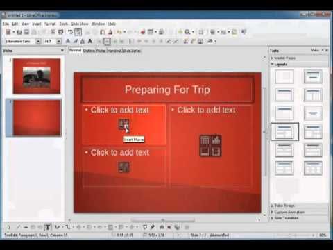 LibreOffice Impress: Adding Multimedia