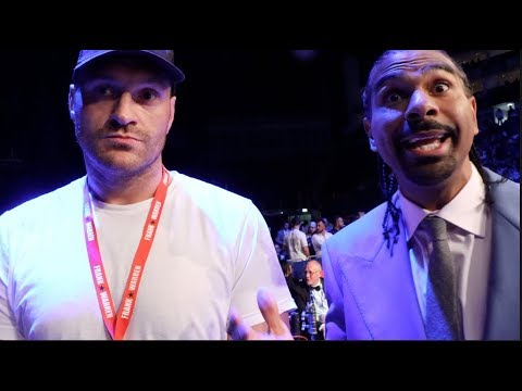'I WAS BITTER FOR A LONG TIME' - TYSON FURY TELLS DAVID HAYE AS FORMER RIVALS END BITTER PAST FEUD
