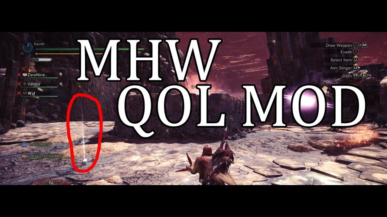 Monster Hunter World PC | Quality of Life Mod #1 | Souvenir's Light Pillar  (NOT UP TO DATE)