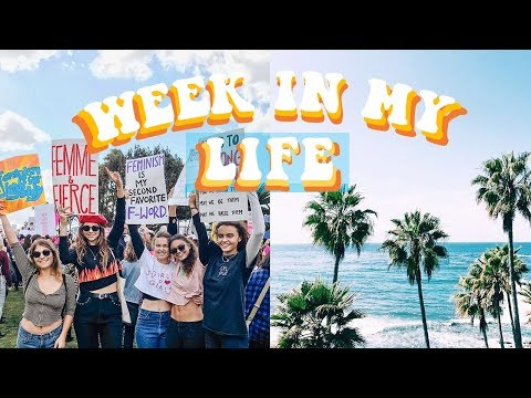 Week In My Life Vlog | Women's March, College, Los Angeles