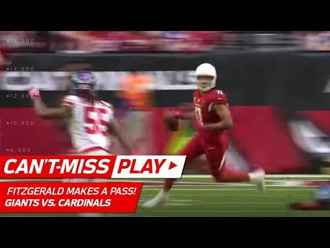 Larry Fitzgerald Tosses Tricky Pass for a 1st Down vs. NY! | Can