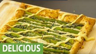 Easy and elegant asparagus tart