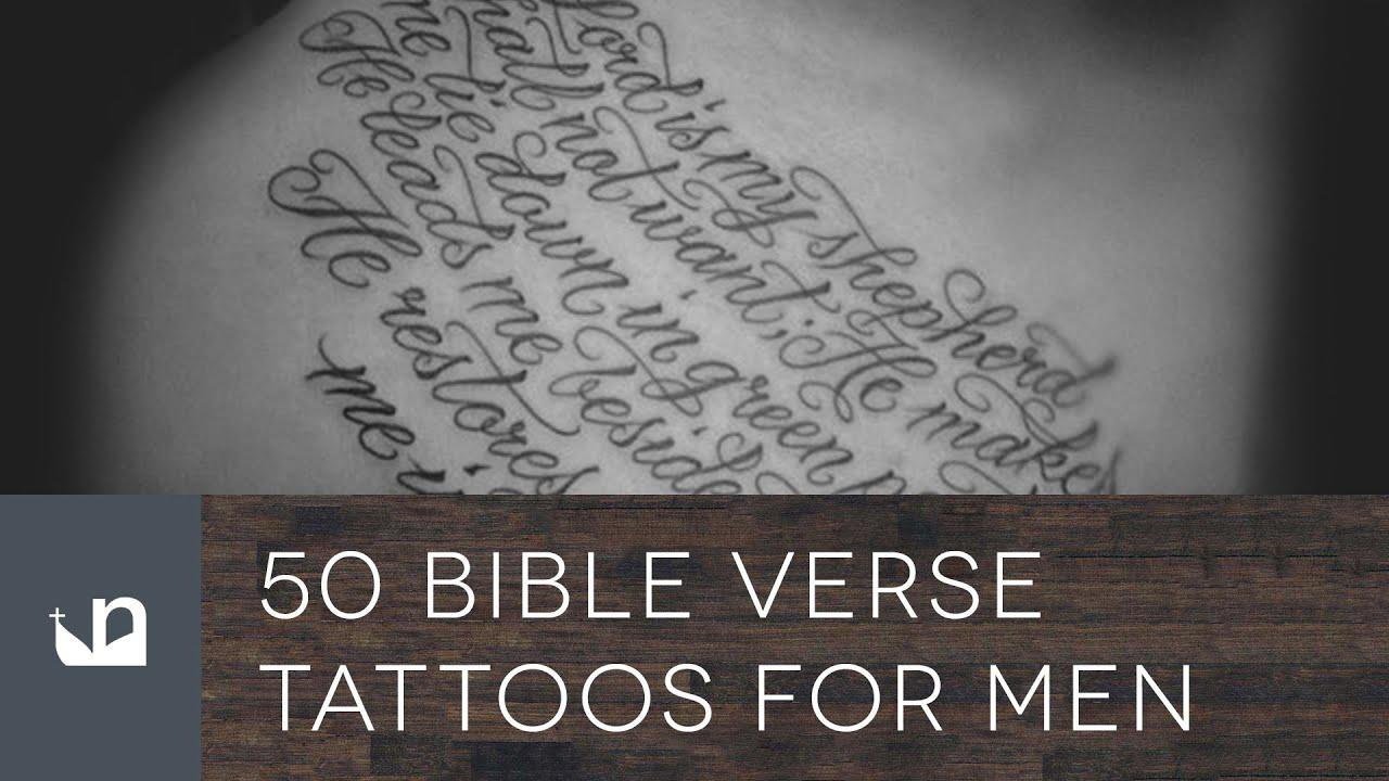 50 Bible Verse Tattoos For Men - YouTube
