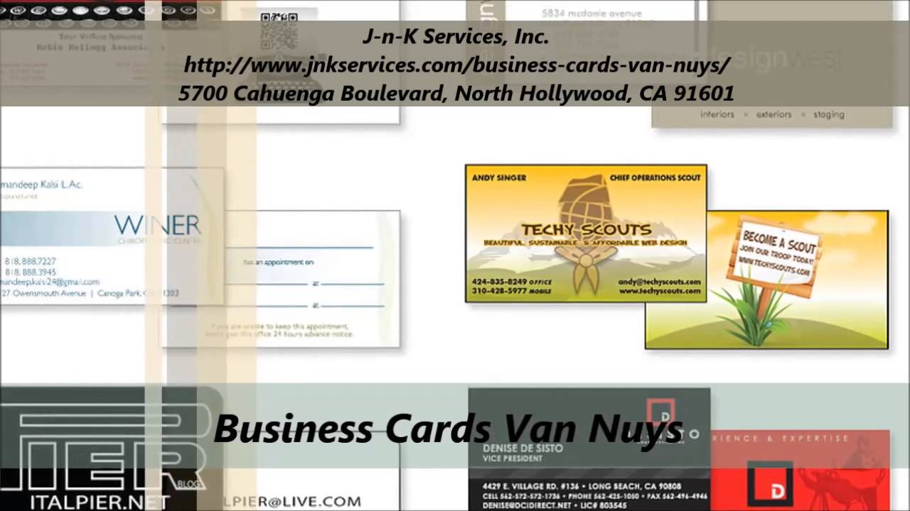 J n k business cards services in van nuys youtube j n k business cards services in van nuys reheart Choice Image