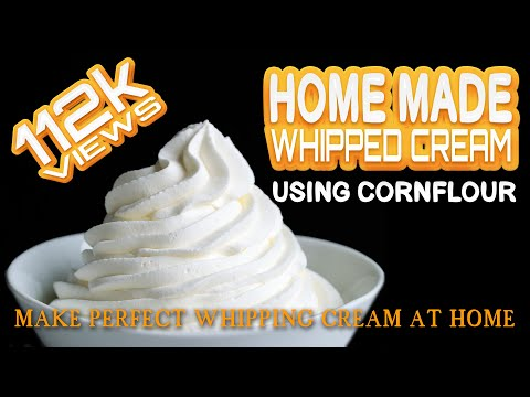 whipping-cream-using-corn-flour||home-made-whipping-cream||whipping-cream-recipe-||corn-flour-recipe