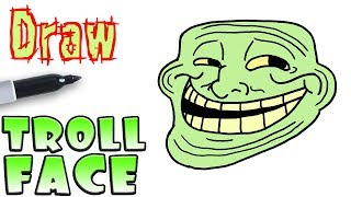 How to Draw Trollface