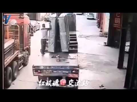 Worker Crushed by Glass !!