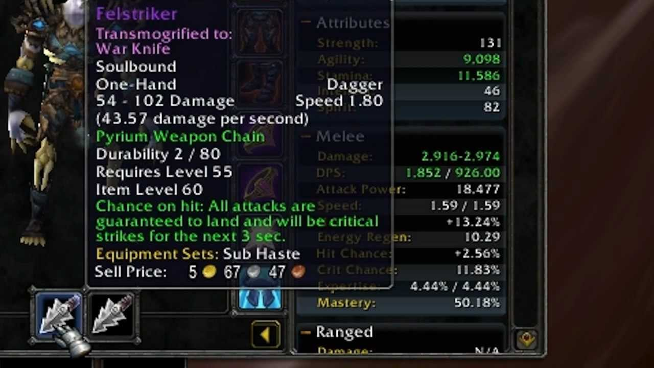 WoW Assassination Rogue 100% Crit/Hit Chance Tutorial [MOP]