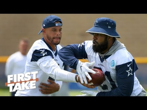The Cowboys should sign Dak before Zeke - Stephen A. | First Take