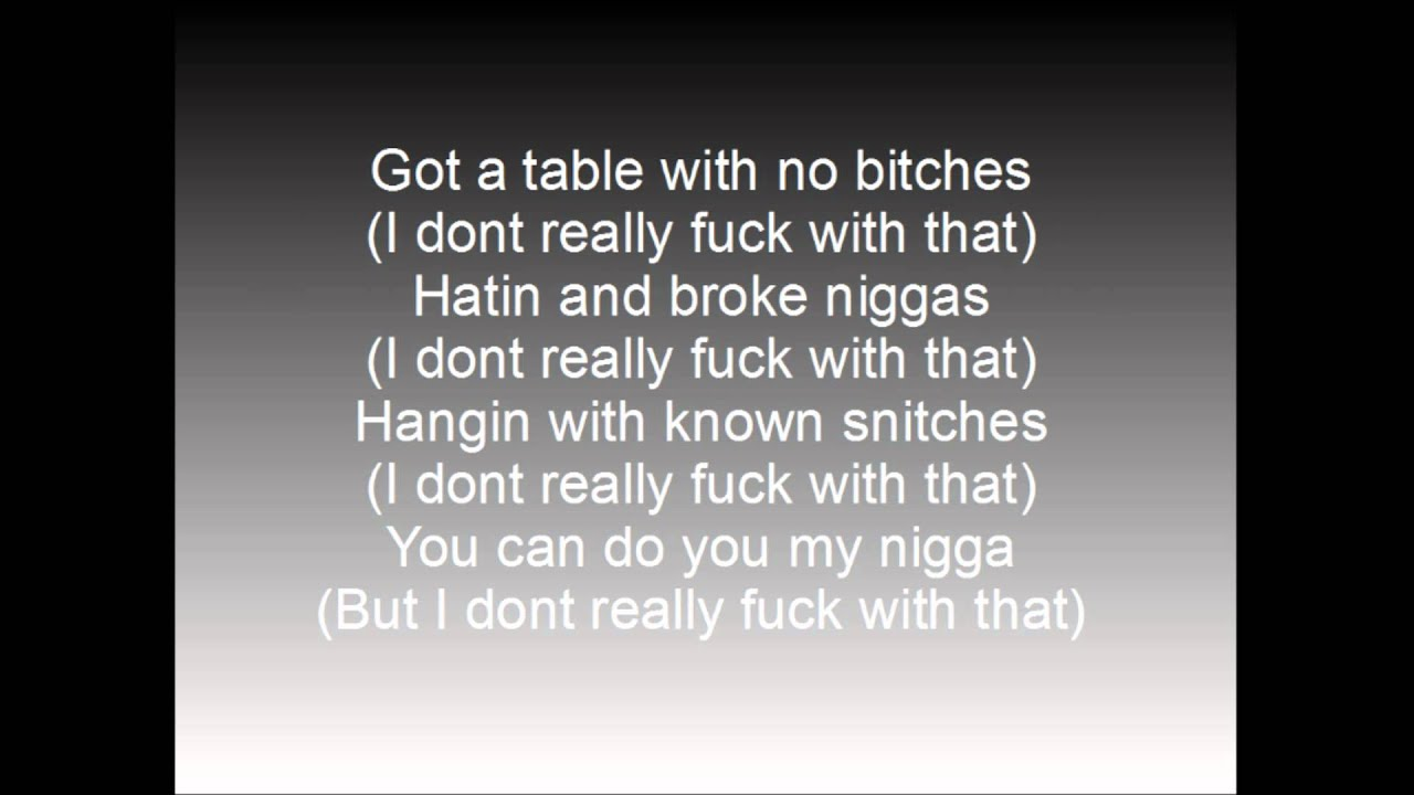Los I dont fuck wit that Ft papya W/ lyrics on screen