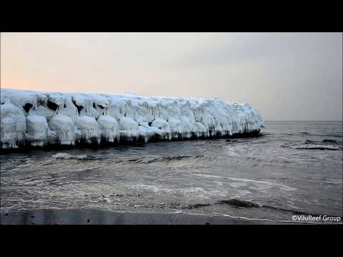 【HD】Sea Wave Sound of Winter 30 min/Nature Sound