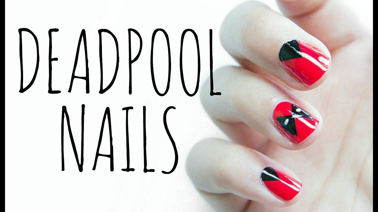Deadpool Nails - YouTube