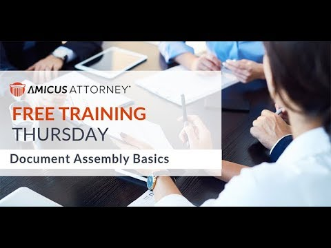 amicus-attorney-document-assembly-basics