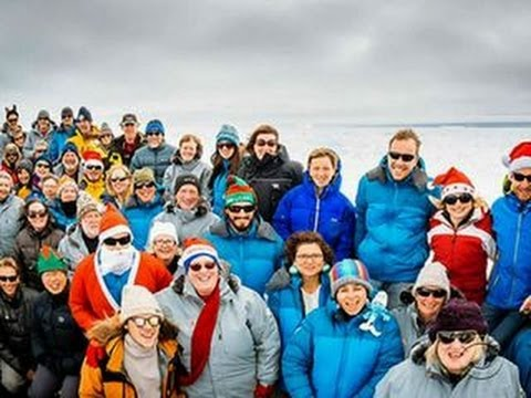 Ice-stuck research ship's passengers share through social media
