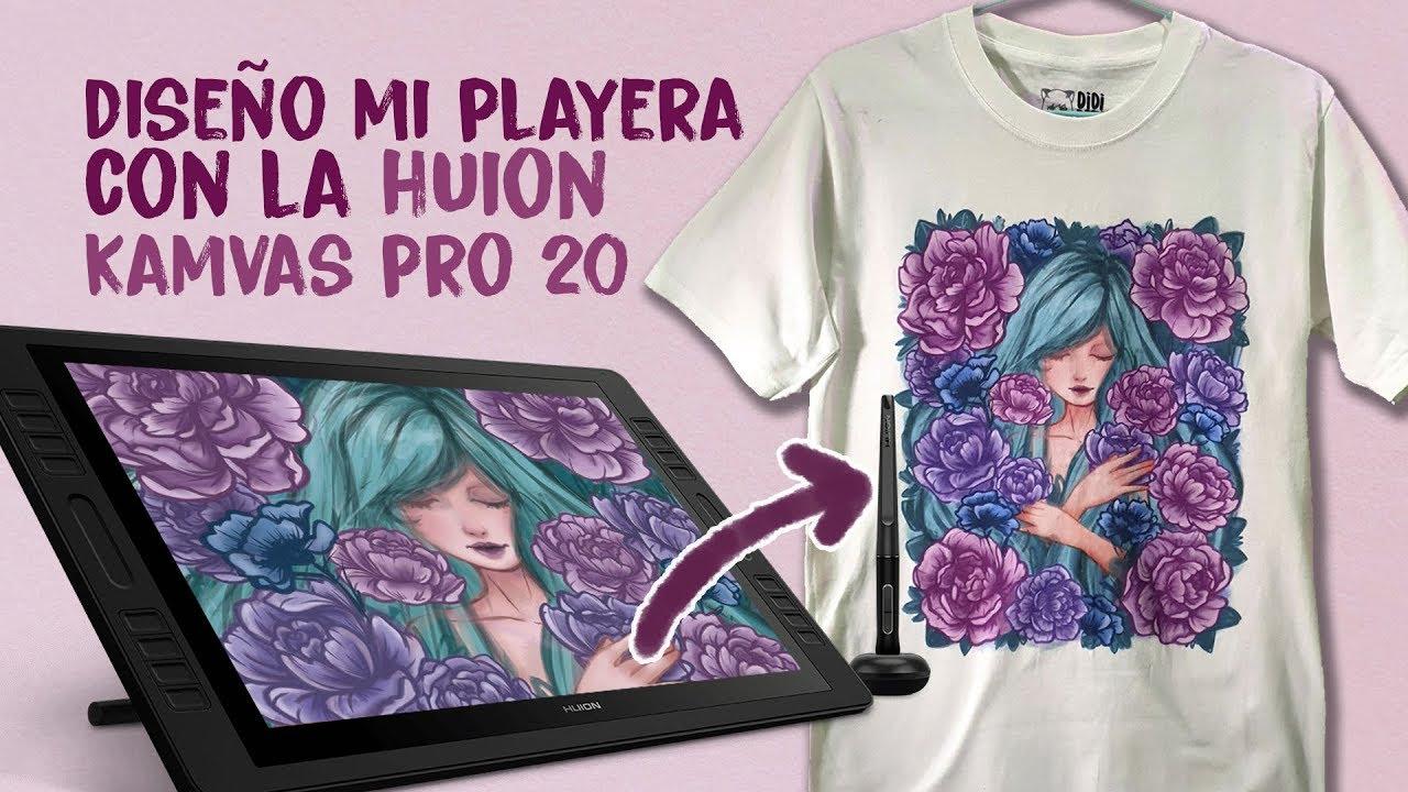 Diseño de mi Playera y Huion KAMVAS Pro 20 review | Diana Díaz