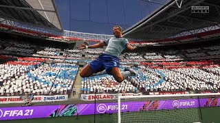 England beats Germany 2 0 AGAIN FIFA 21 Full Match All cut scenes CPU vs CPU