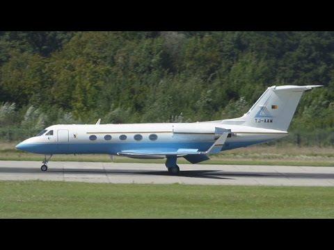 [FullHD] RARE Cameroon Government Gulfstream III landing at Geneva/GVA/LSGG