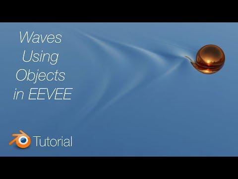 [2.8] Blender Tutorial: Waves Using Objects in EEVEE, Beginner thumbnail