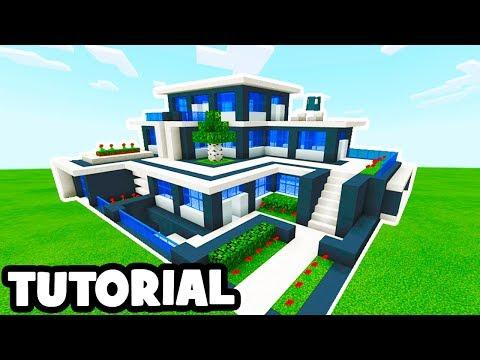 Minecraft Tutorial: How To Make A Modern Mansion #9