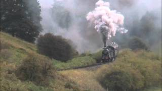 828 climbs Eardington Bank on the Severn Valley Railway Thumbnail