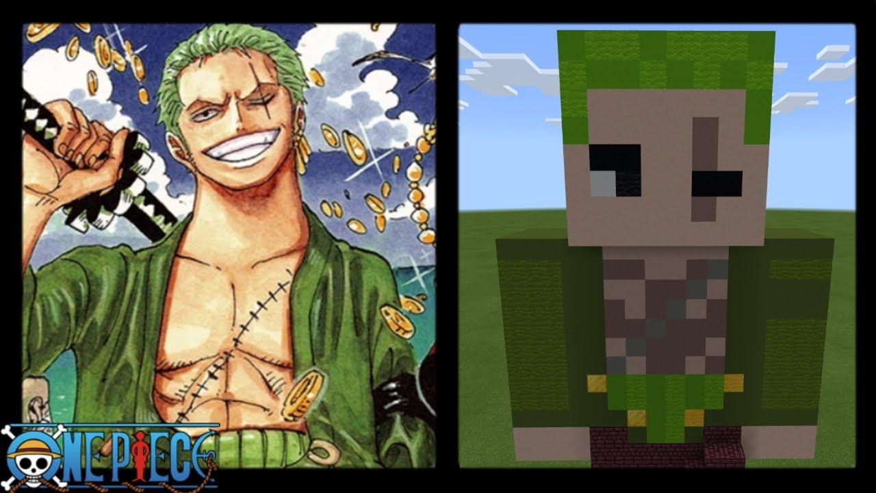 Minecraft  Roronoa Zoro Skin Statue  One Piece