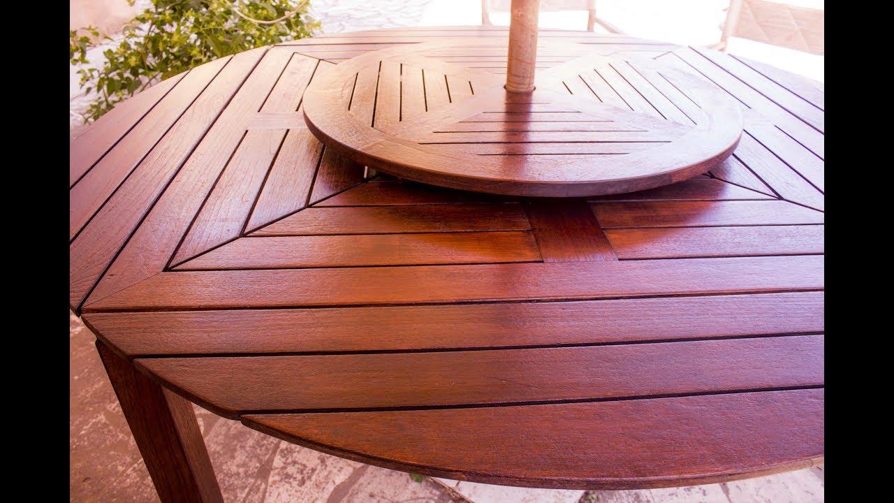 Come restaurare mobili in legno verniciare mobili da esterno e giardino youtube - Mobili in legno da esterno ...