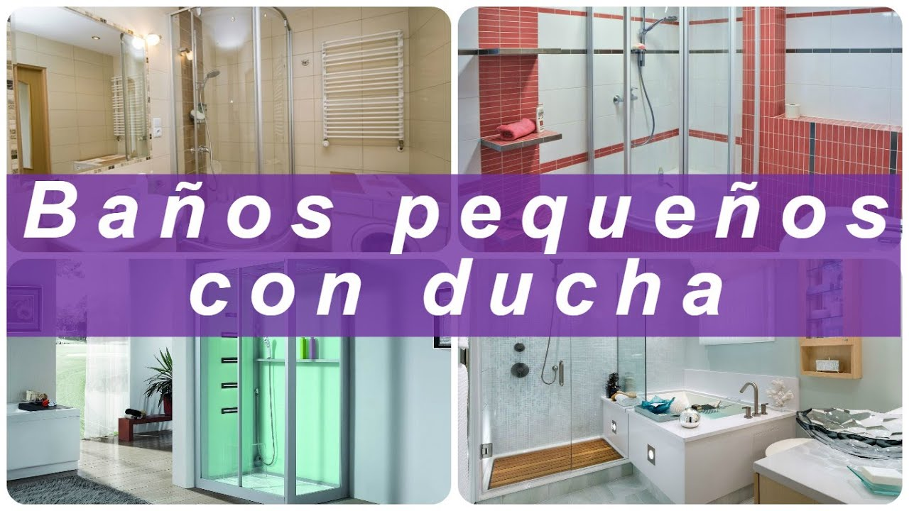 Ba os peque os con ducha youtube for Diseno de interiores espacios pequenos