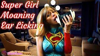 ASMR  Moaning Ear Licking super girl