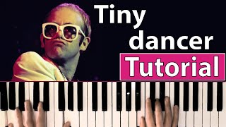 Como tocar Tiny dancer(Elton John) - Piano tutorial, partitura y mp3