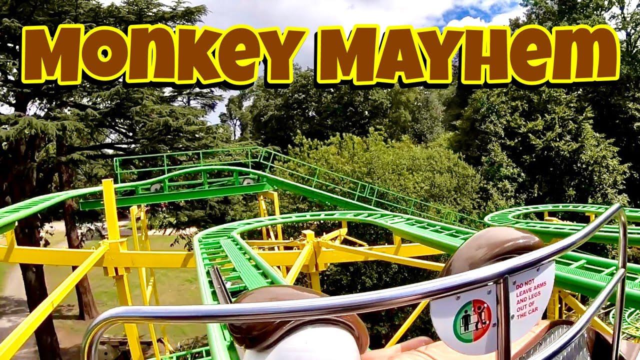 Monkey Mayhem On Ride POV HD GoPro