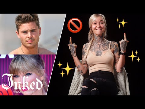 Guess the Celebrity Without Tattoos | Tattoo Artists React