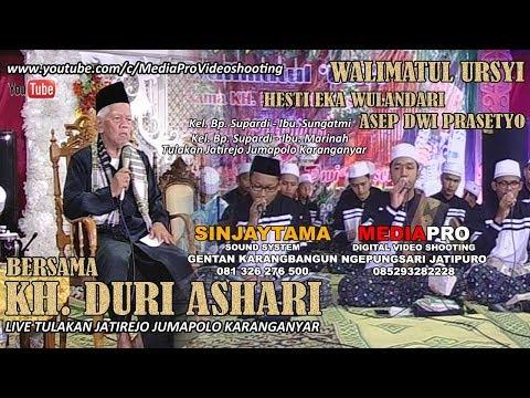 KH. DURI ASHARI (SEMARANG) LUCU PENUH HUMOR ACARA PERNIKAHAN EKA & ASEP LIVE JATIREJO JUMAPOLO KRA