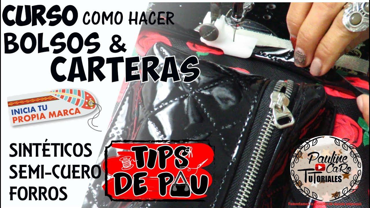 89700d6c2 COMO HACER BOLSOS EN TELA , SINTÉTICOS Y SEMI-CUERO - YouTube