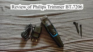 Detailed Review of Philips Trimmer BT 7206