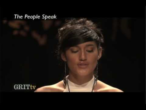 GRITtv: The People Speak with Q'orianka Kilcher