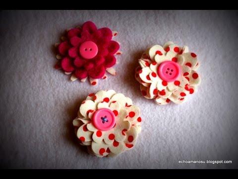 Como hacer flores de tela youtube - Como hacer flores ...