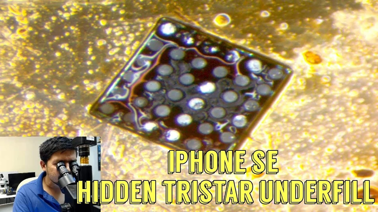 iPhone SE Tristar chip replacement - YouTube