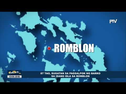 87 tao, sugatan sa pagsalpok ng barko sa isang isla sa Romblon
