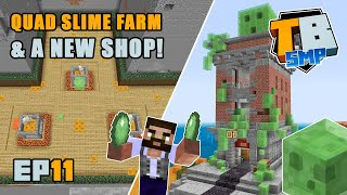 QUAD SLIME FARM and new slime shop! | Truly Bedrock Season 2 [11] | Minecraft Bedrock SMP