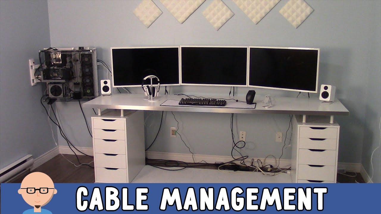 Attirant New Home Office   Cable Management