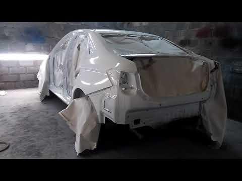 Lada Vesta после пожара и её восстановление.
