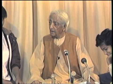 J. Krishnamurti - Rishi Valley 1984 - Discussion with Students 2 - The brain is always recording