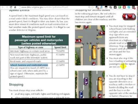 virginia dmv driving test study guide