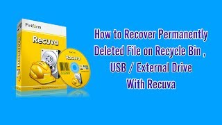 Recuva ★Demo★ - Recover permanent deleted file with Recuva