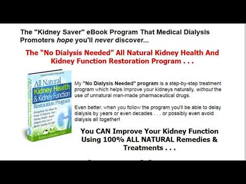 Kidney Damage Stage Reduced! - NEW All Natural Kidney Healing Program